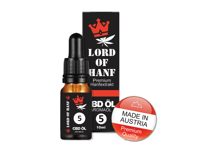 LORD OF HANF <br> CBD PREMIUM ÖL 5%