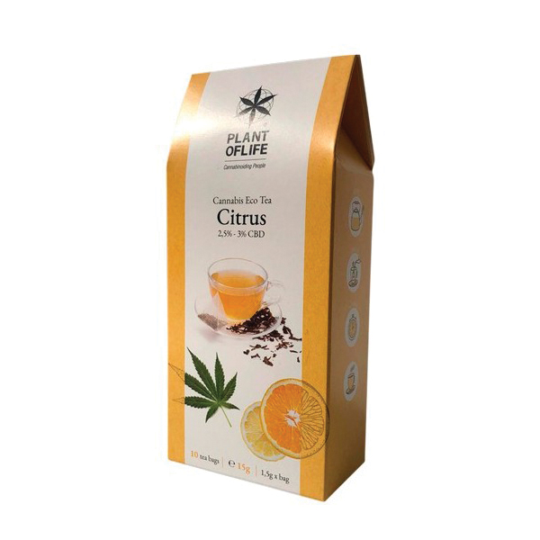 INFUSION CBD TEA CITRUS <br> PLANT OF LIFE