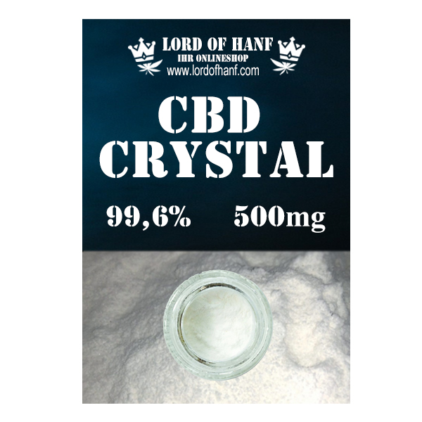 Lord of Hanf <br> CBD Kristalle 500mg <br> (0,5g)